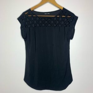 Express Short Sleeve Black Blouse
